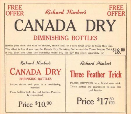 richard-himber-canada-dry-passe-passe-bottles-ad-genii-1950-03
