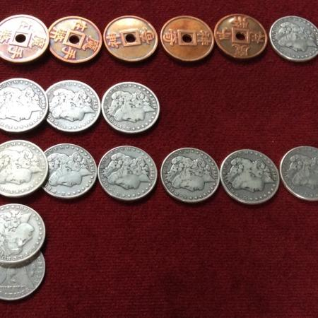 Custom Morgan Dollar and Chinese Miracle Enjoyment Set by Todd Lassen